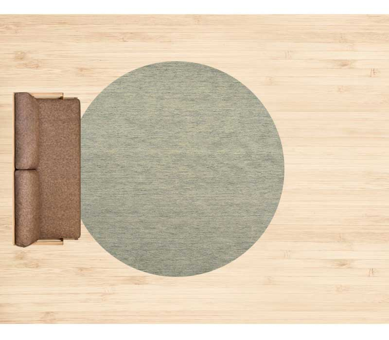 10畳に直径250cmのラグ 配置イメージ