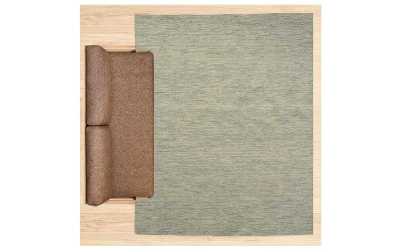 4畳半に200×250cmのラグ 配置イメージ