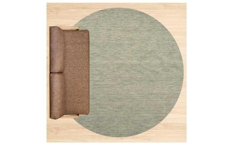 4畳半に直径250cmのラグ 配置イメージ