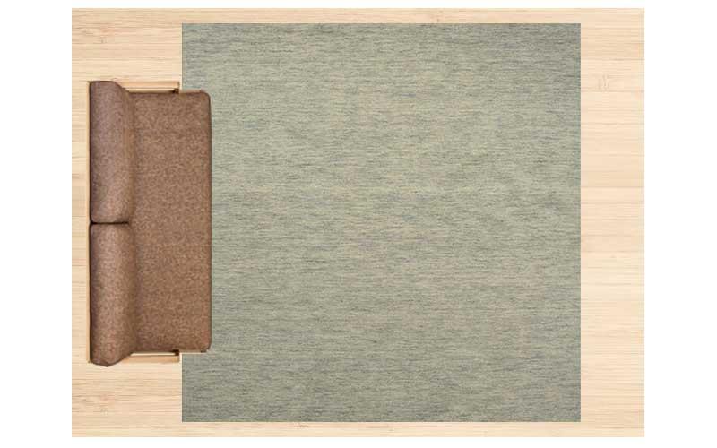6畳に250×250cmのラグ 配置イメージ