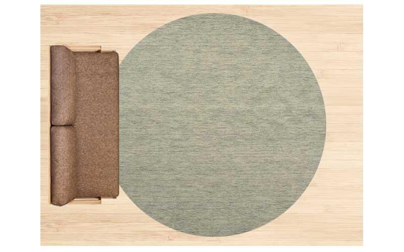 6畳に直径250cmのラグ 配置イメージ