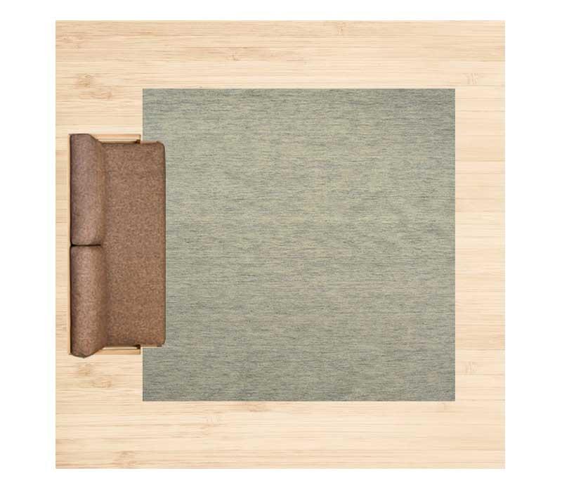 8畳に250×250cmのラグ 配置イメージ