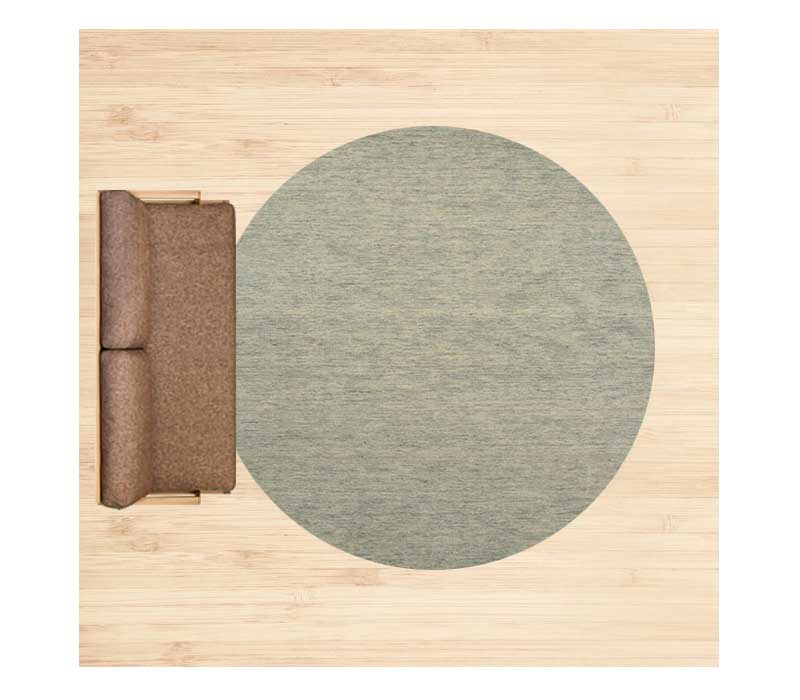 8畳に直径250cmのラグ 配置イメージ