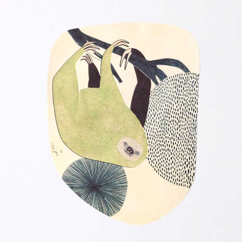 「moritaMiW] オリジナル・ポストカード ナマケルというお仕事