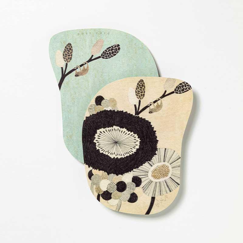 「moritaMiW] オリジナル・ポストカード ゆたりの花壇