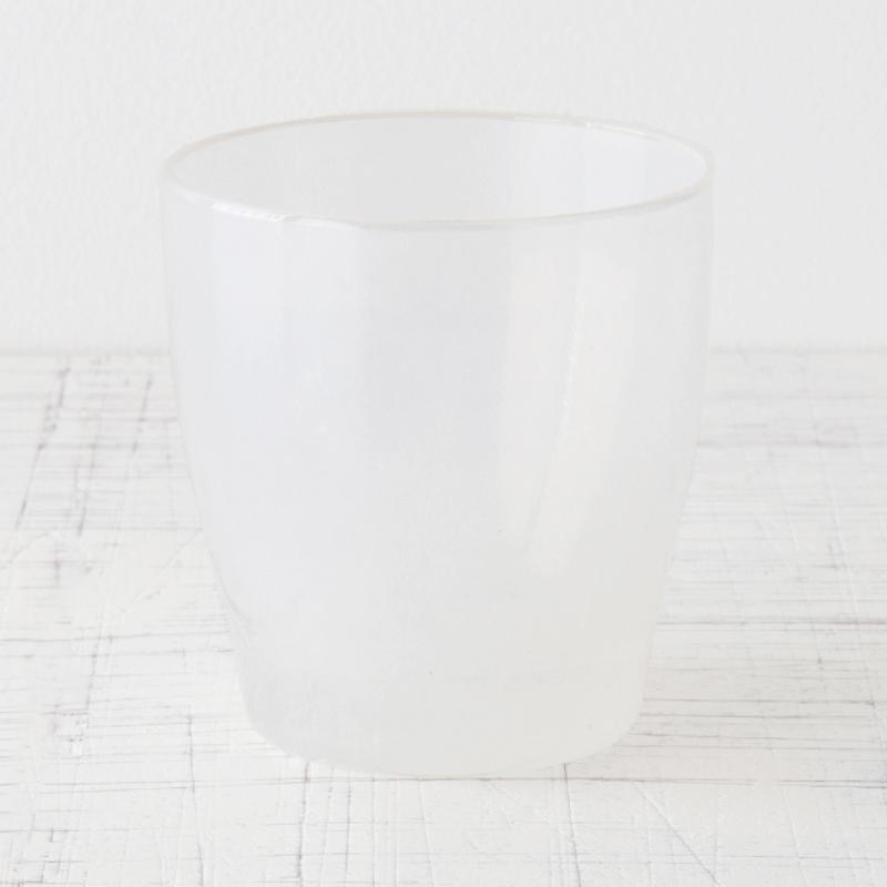 カラフルなグラス white