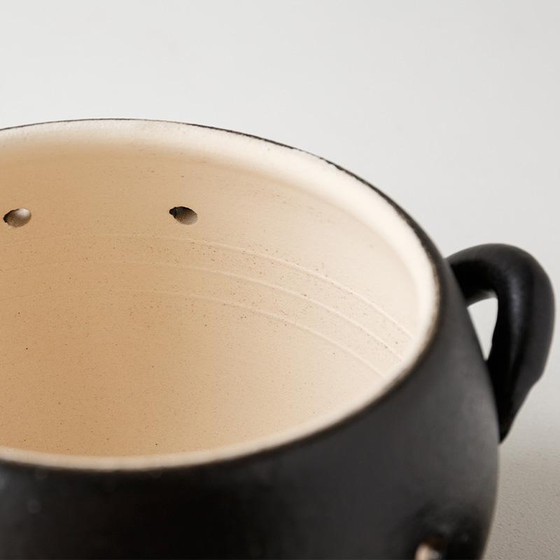 日常茶飯器 黒吹き 焼きいも器(石付)