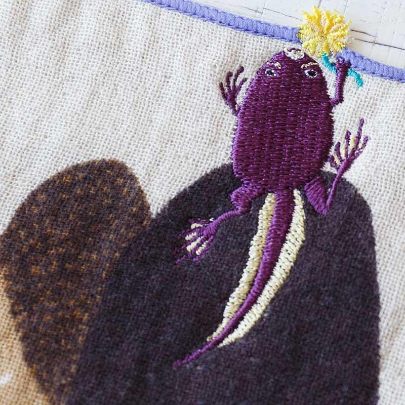 ちいさなポケットハンカチ 今のところオタマガエル