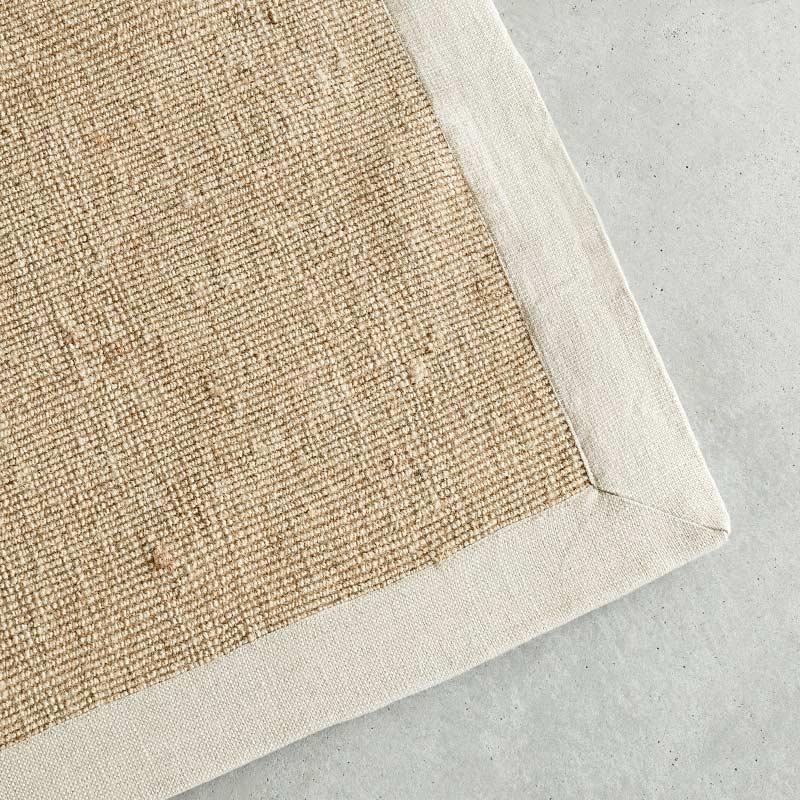 オリジナルラグ サイザル麻×ホワイトフレーム GR04 イメージ