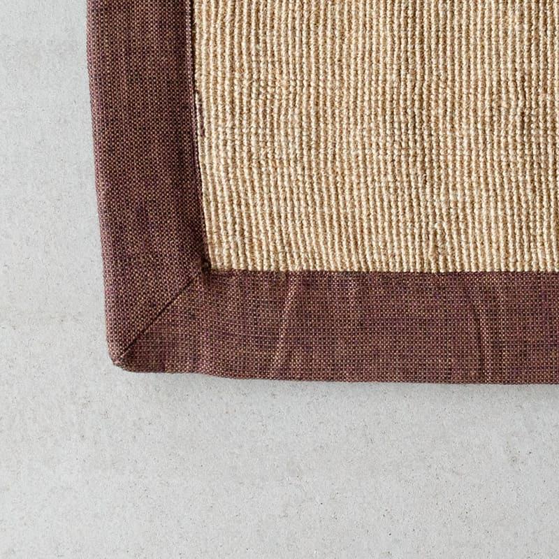 オリジナルラグ サイザル麻×ブラウンフレーム GR05 角