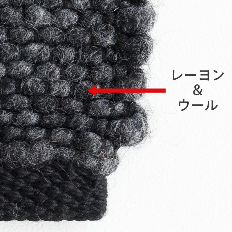 オリジナルラグ ブレンドR ブラック J2317BK 糸の素材