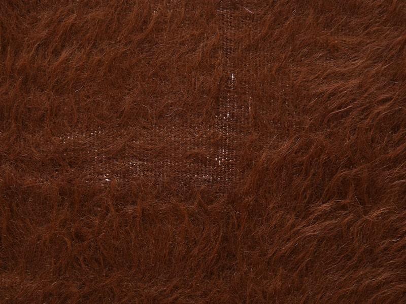 ヴィンテージラグ ゴートキリム ブラウン OK19-MC1207003 毛がないところもある