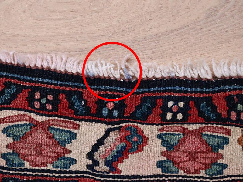 ヴィンテージラグ コルディスタンキリム OK20-JIO16 フリンジに着色