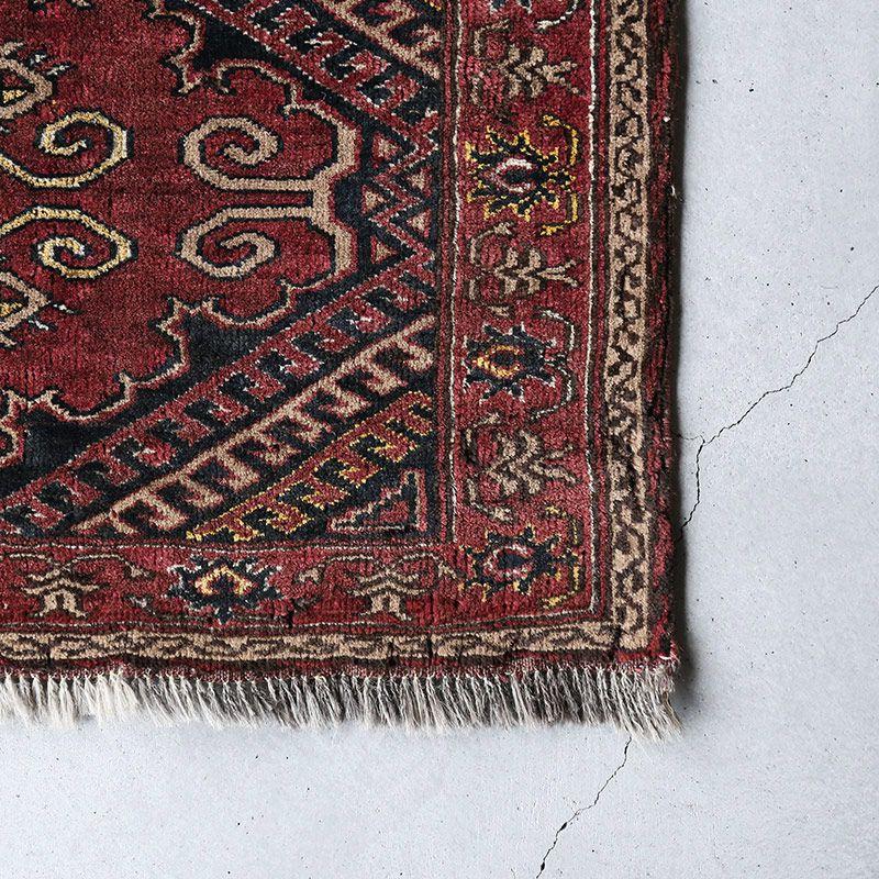 ヴィンテージラグ トルクメン / アフガニスタン / 1970年代 / 81cm x 51cm / OR1-2012001 角