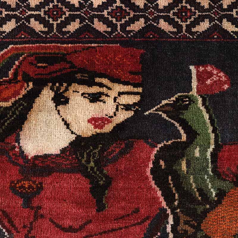 トライバルラグ リラ(アラビア人の女性) OR105-2105032 アップ