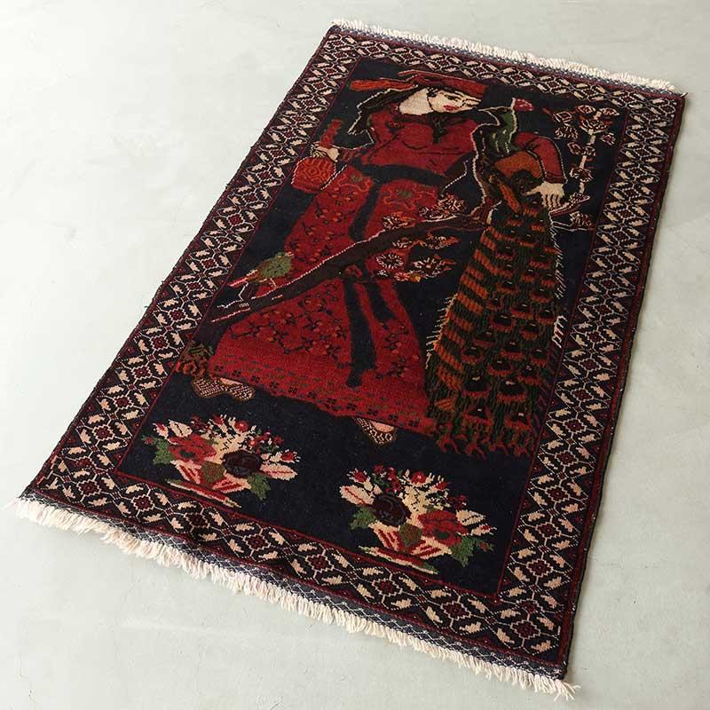 トライバルラグ リラ(アラビア人の女性) OR105-2105032 濃く深い色合い