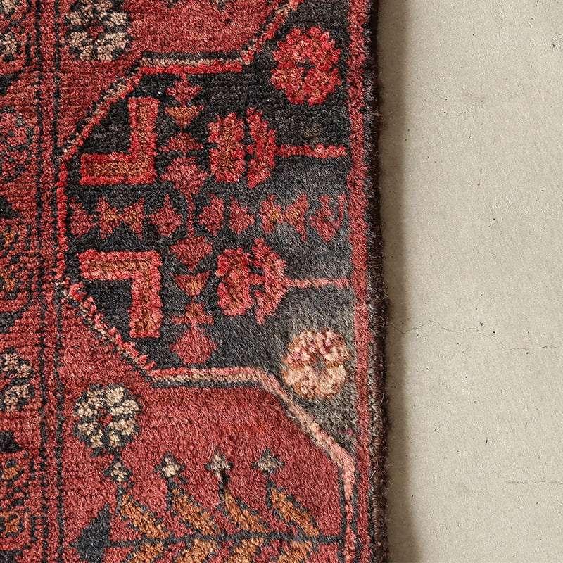 ヴィンテージラグ トルクメン アンドフイ / アフガニスタン / 1970年代 / 84cm x 147cm / OR11-2012011 色が薄くなってる