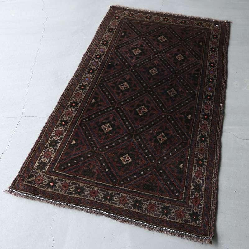 ヴィンテージラグ バルーチ / アフガニスタン / 1970年代 / 84cm x 143cm / OR12-2012012 濃く深い色合い