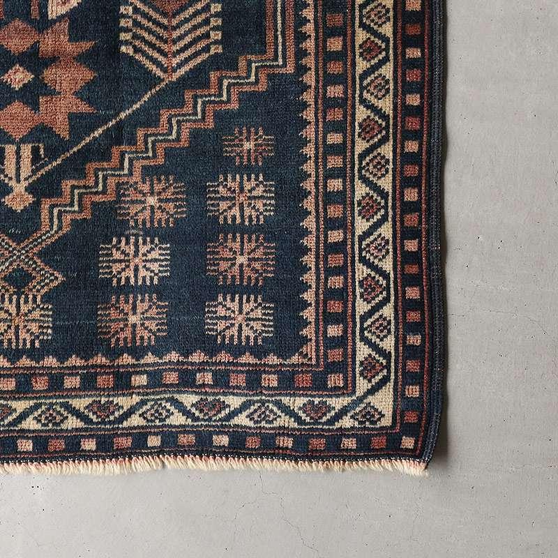 ヴィンテージラグ バルーチ / アフガニスタン / 1970年代 / 85cm×130cm / OR17-2012017 角