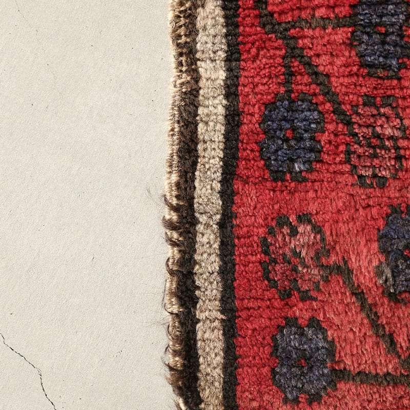 ヴィンテージラグ ノマド / アフガニスタン / 1960年代 / 97cm×149cm / OR18-2012018 かがりの擦り切れ