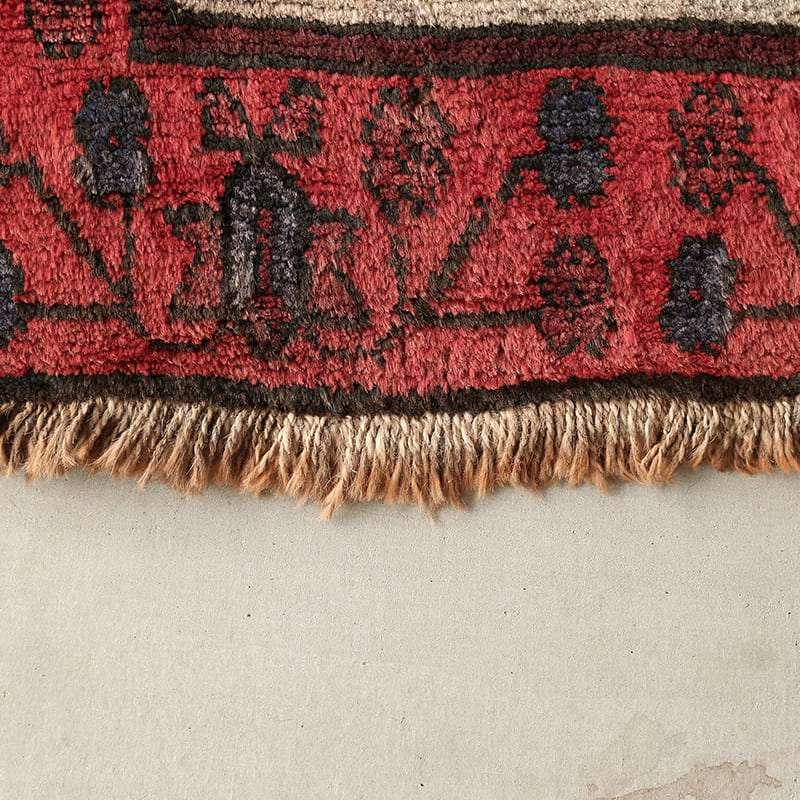 ヴィンテージラグ ノマド / アフガニスタン / 1960年代 / 97cm×149cm / OR18-2012018 フリンジに着色