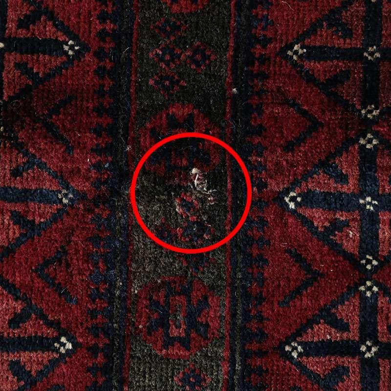 ヴィンテージラグ バルーチ ヤクブカーン / 不明 / 1950年代 / 99cm×169cm / OR21-2012021 糸の飛び出し