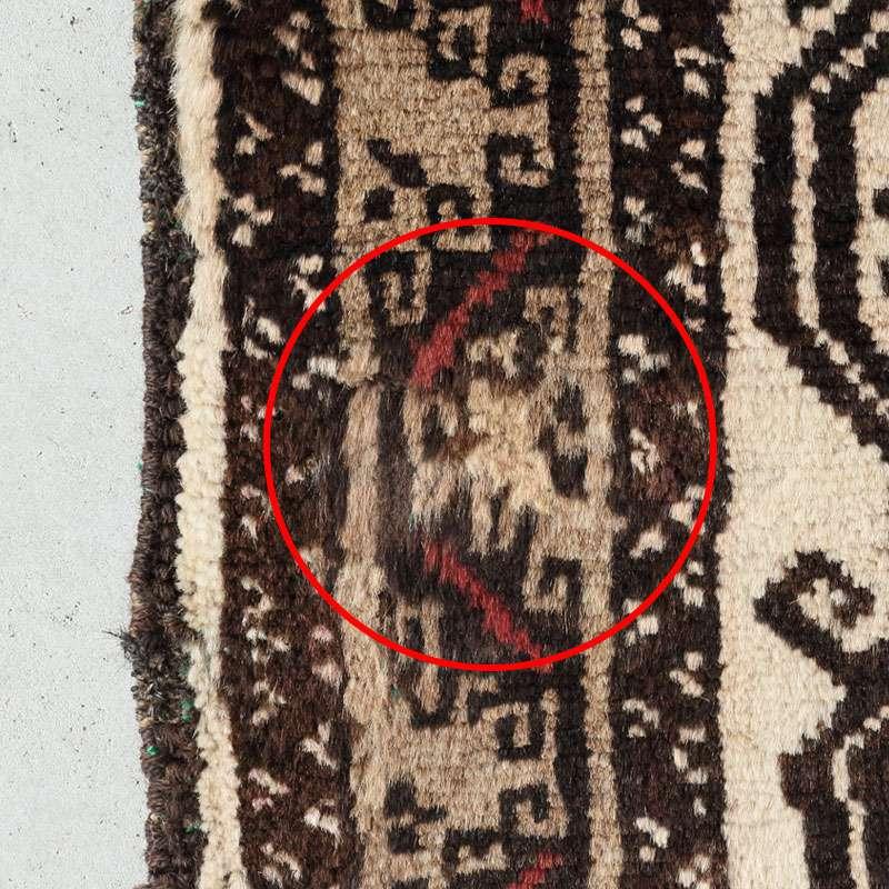 トライバルラグ バルーチ OR30-2012030 糸が擦れている