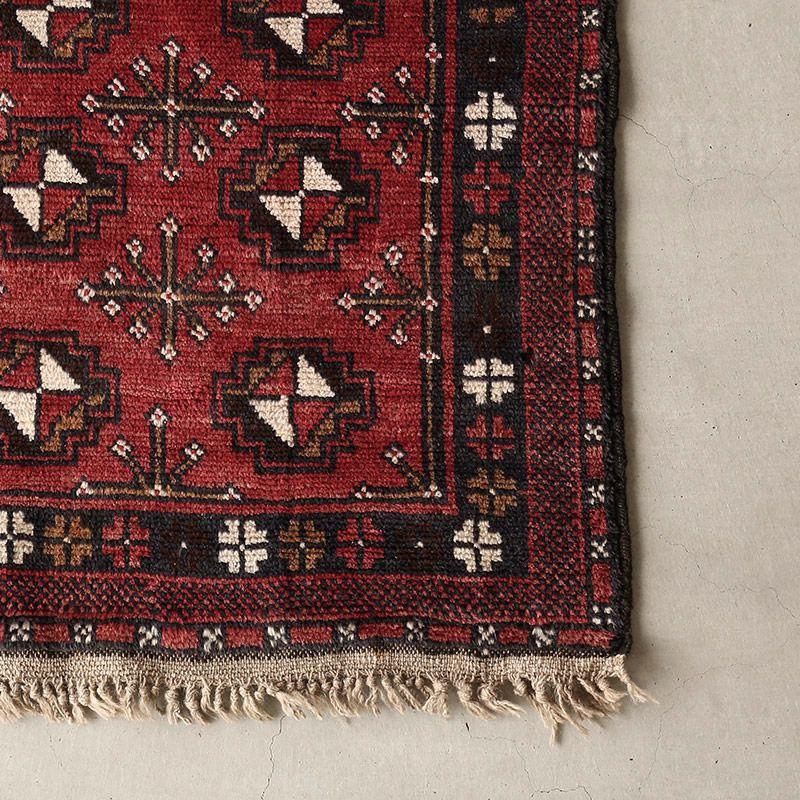 ヴィンテージラグ ヤムート / アフガニスタン / 1970年代 / 83cm x 140cm / OR37-2012037 角
