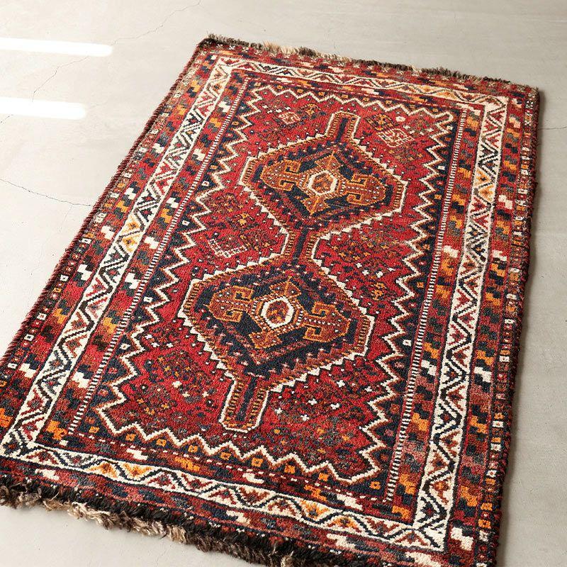 ヴィンテージラグ ノマド / アフガニスタン / 1960年代 / 84 x 130cm / OR38-2012038 淡く明るい色合い