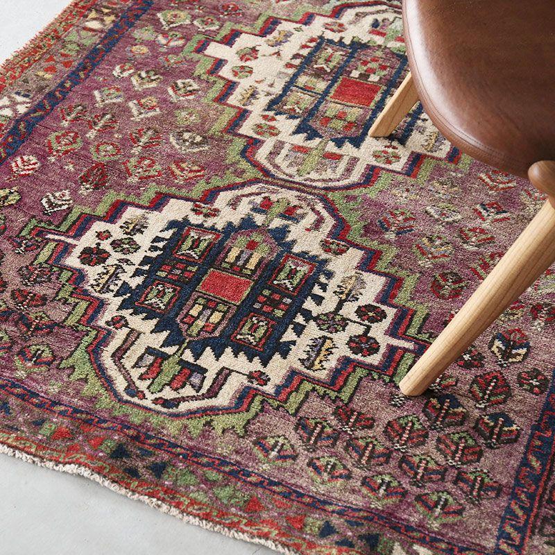 ヴィンテージラグ アフシャール / イラン / 1990年代 / 117cm x 125cm / OR46-3012007 イメージ