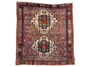 ヴィンテージラグ アフシャール / イラン / 1990年代 / 117cm x 125cm / OR46-3012007