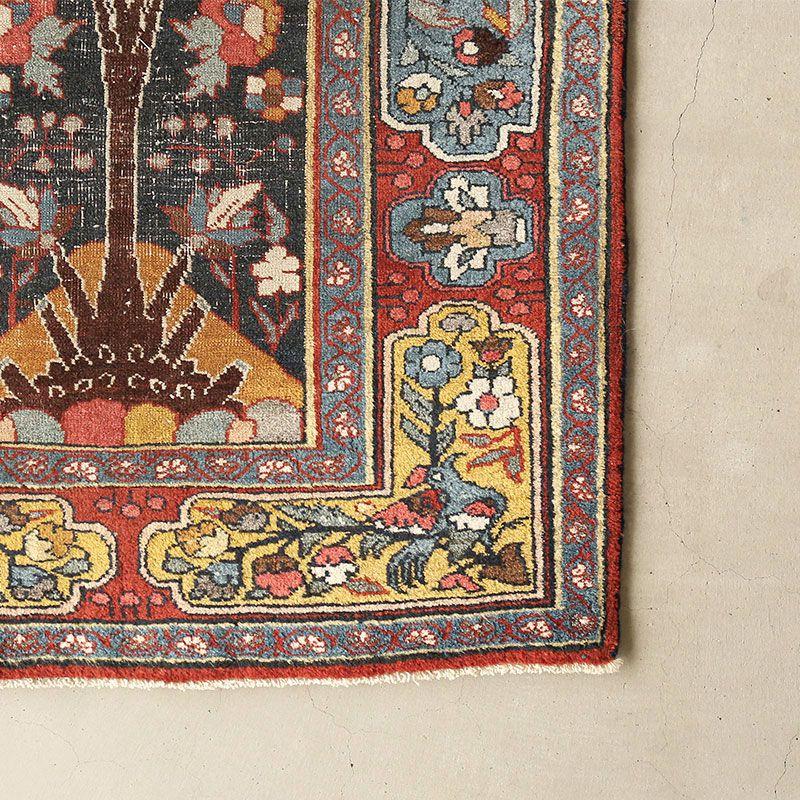 ヴィンテージラグ ビジャール / イラン / 1970年代 / 72cm x 117cm / OR49-3012010 角