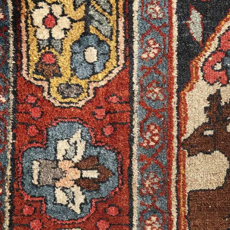 ヴィンテージラグ ビジャール / イラン / 1970年代 / 72cm x 117cm / OR49-3012010 アップ
