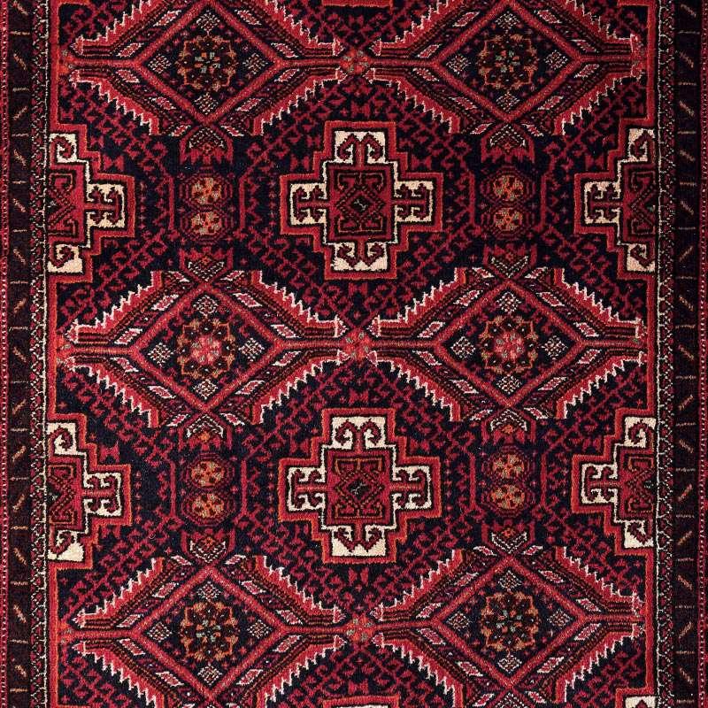 ヴィンテージラグ バルーチ / イラン / 1980年代 / 82cm x 153cm / OR54-3012015 デザイン
