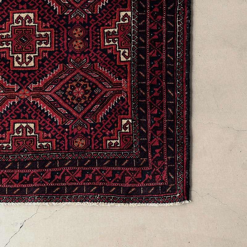 ヴィンテージラグ バルーチ / イラン / 1980年代 / 82cm x 153cm / OR54-3012015 かがりの様子