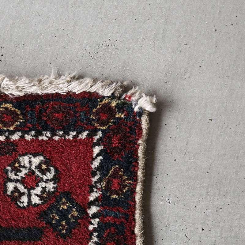 ヴィンテージラグ アフシャール / イラン / 1980年代 / 128cm x 165cm / OR59-3012020 角のほつれ