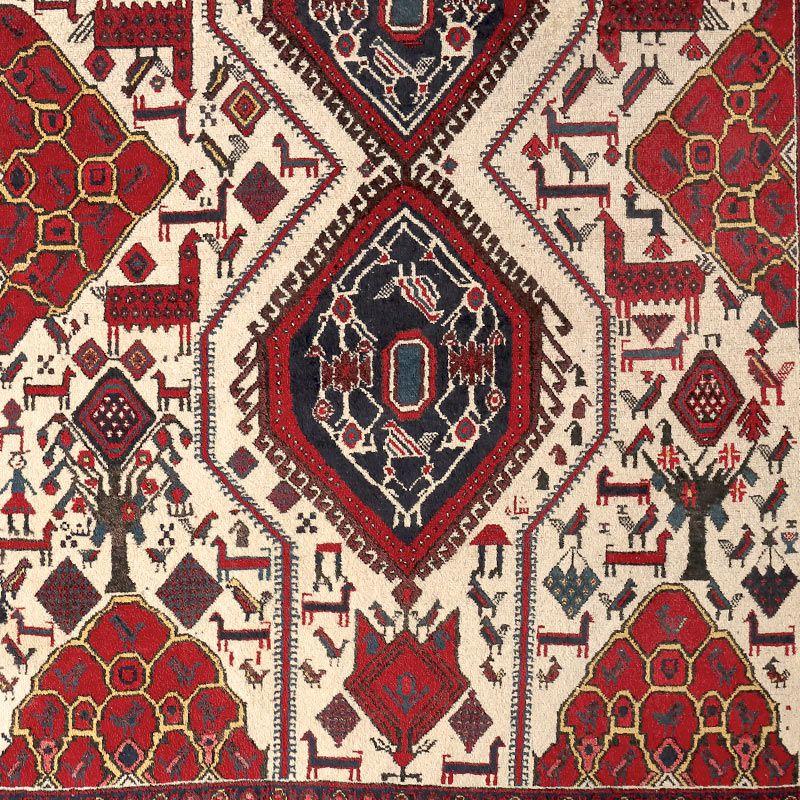 ヴィンテージラグ アフシャール / イラン / 1980年代 / 128cm x 165cm / OR59-3012020 デザイン