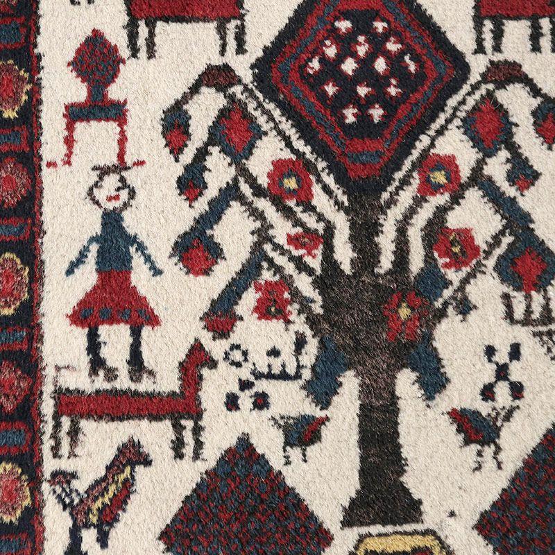 ヴィンテージラグ アフシャール / イラン / 1980年代 / 128cm x 165cm / OR59-3012020 アップ