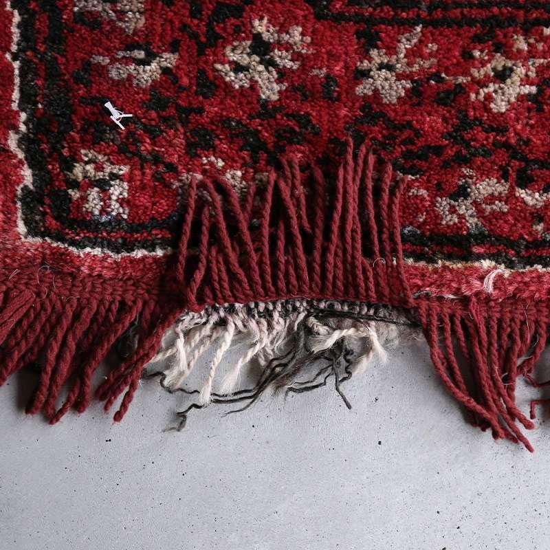 ヴィンテージラグ バルーチ / アフガニスタン / 1970年代 / 81cm x 114cm / OR9-2012009 フリンジの補修跡