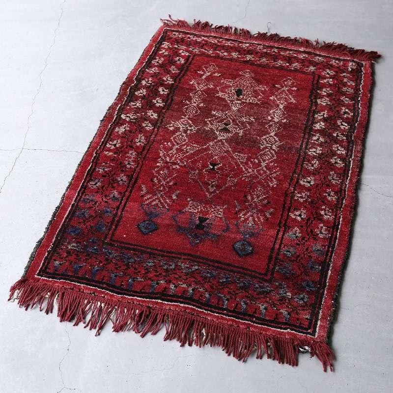 ヴィンテージラグ バルーチ / アフガニスタン / 1970年代 / 81cm x 114cm / OR9-2012009 濃く深い色合い