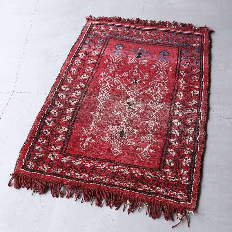 ヴィンテージラグ バルーチ / アフガニスタン / 1970年代 / 81cm x 114cm / OR9-2012009 淡く明るい色合い
