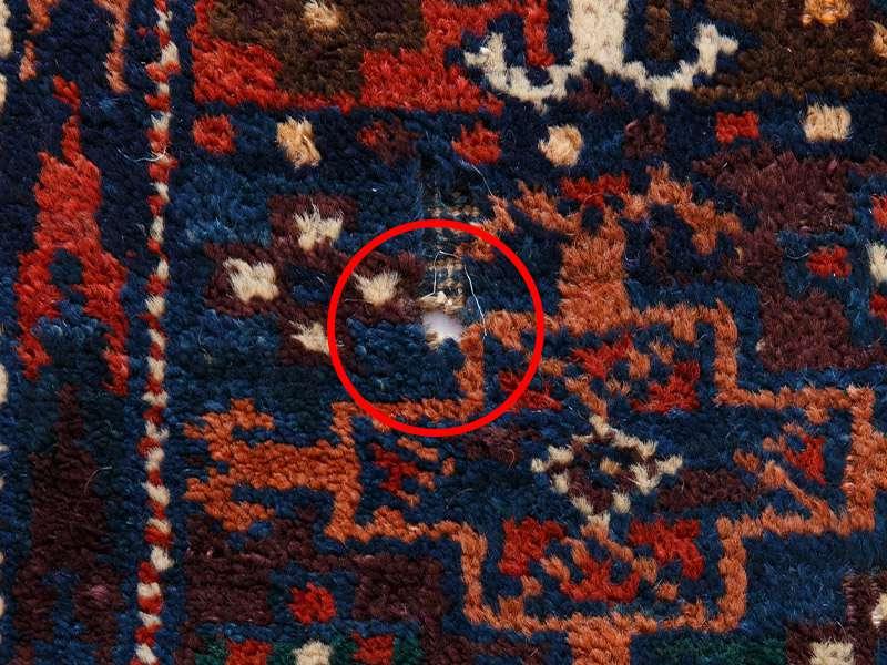 ヴィンテージラグ / トルクメン / アフガニスタン / 1970年代 / 110cm x 180cm / ORa-2009001 穴