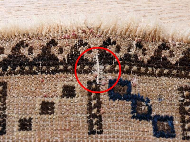 ヴィンテージラグ 1990年代 アフガンバルーチ族 ORb-2009002 糸の飛び出し