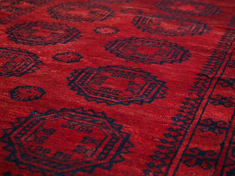 ヴィンテージラグ 1970年 アフガントルクメン族 ORe-2009005 表面の様子