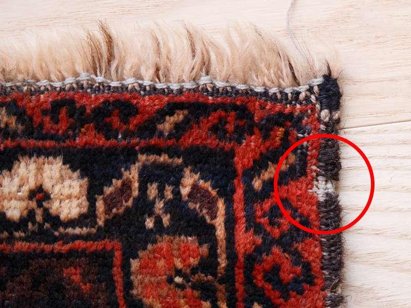 ヴィンテージラグ / バルーチ / アフガニスタン / 1980年代 / 89cm x 148cm / ORh-2009008 一部かがりがない