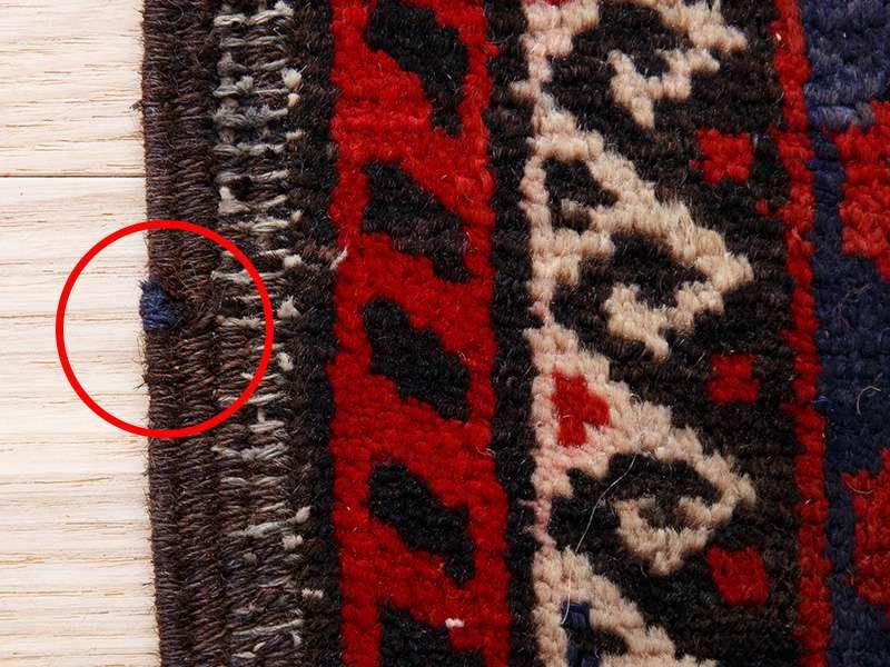 ヴィンテージラグ バルーチ / イラン / 1980年代 / 101cm x 190cm / ORj-2009010 補修跡