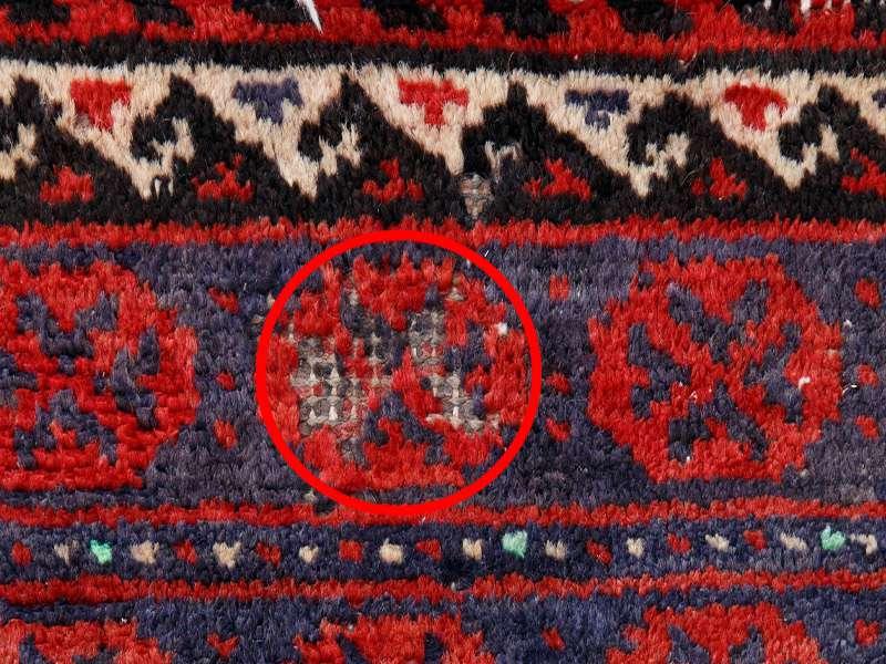 ヴィンテージラグ バルーチ / イラン / 1980年代 / 101cm x 190cm / ORj-2009010 糸抜け