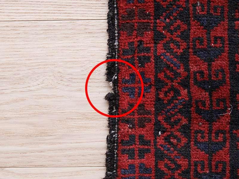 ヴィンテージラグ 1980年代 アフガンバルーチ族 ORn-2009014 かがりのほつれ