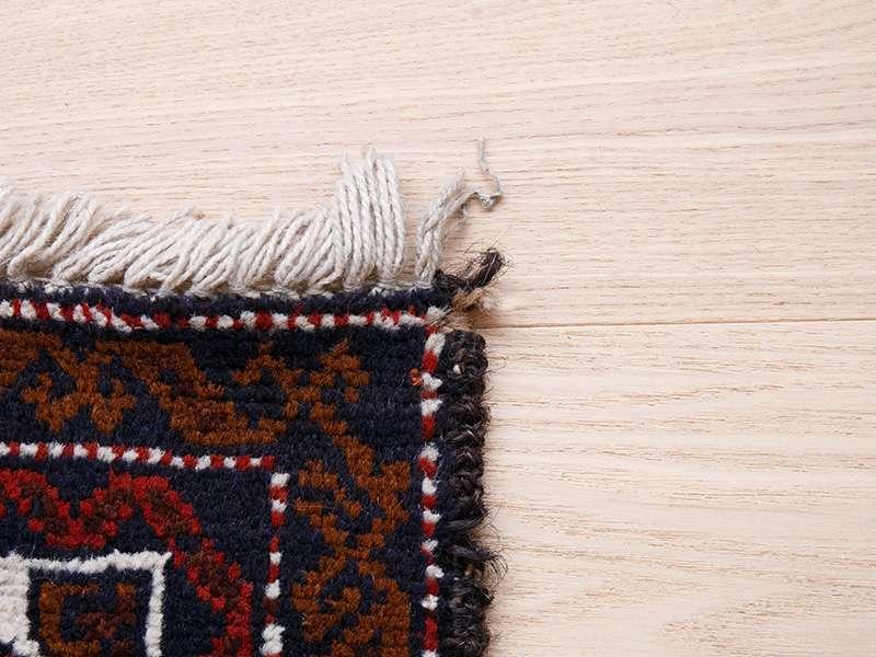 ヴィンテージラグ バルーチ / アフガニスタン / 1990年代 / 87cm x 116cm / ORp-2009016 角のほつれ