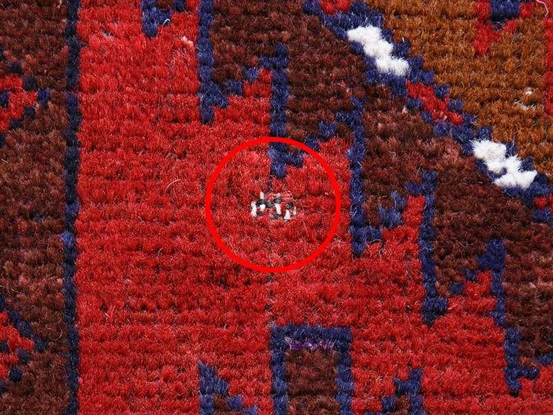 ヴィンテージラグ バルーチ / アフガニスタン / 1990年代 / 87cm x 116cm / ORp-2009016 糸抜け
